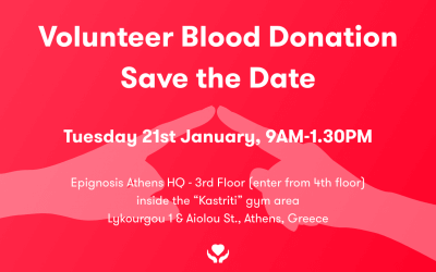 Join us in blood donation at Epignosis (2020)